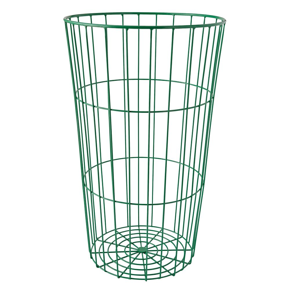 Flea Market Dark Green Wire Ball Bin