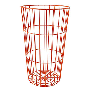Flea Market Orange Wire Ball Bin