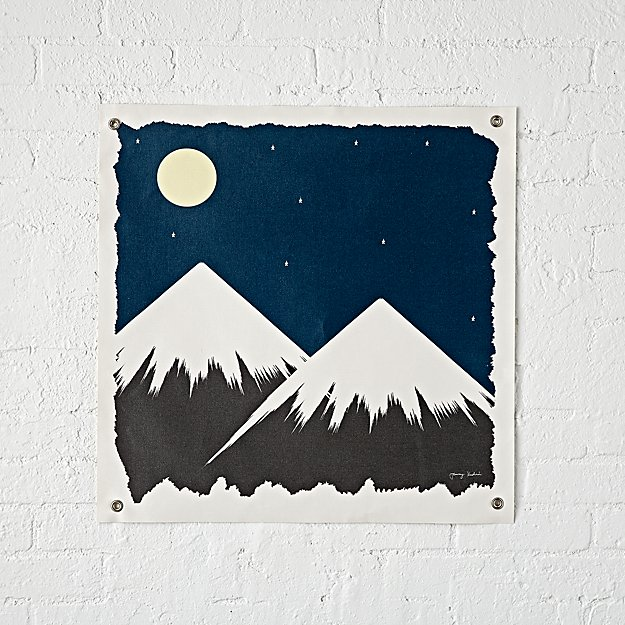 Snowcapped Mountains Banner