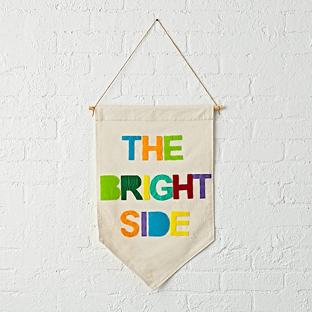 The Bright Side Canvas Banner