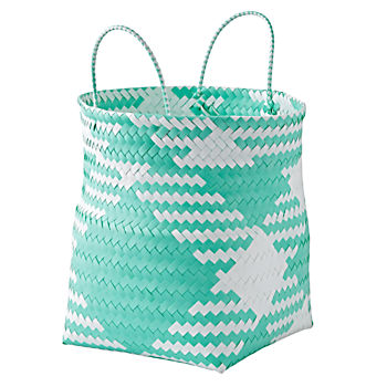 Indoor/Outdoor Aqua Large Folding Storage Bin