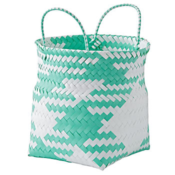 Indoor/Outdoor Aqua Small Folding Storage Bin
