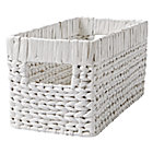 Wonderful Wicker White Small Changing Table Basket