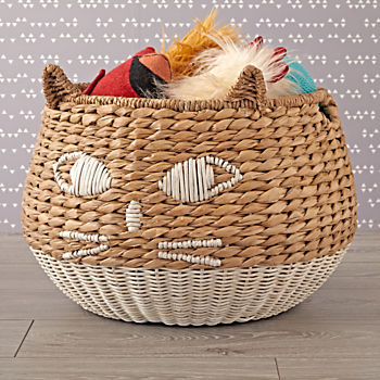 Cat Woven Animal Basket