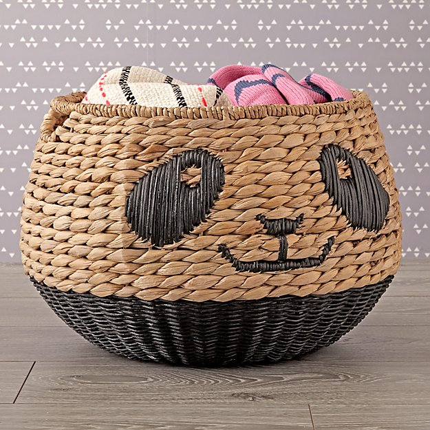 Panda Woven Animal Basket