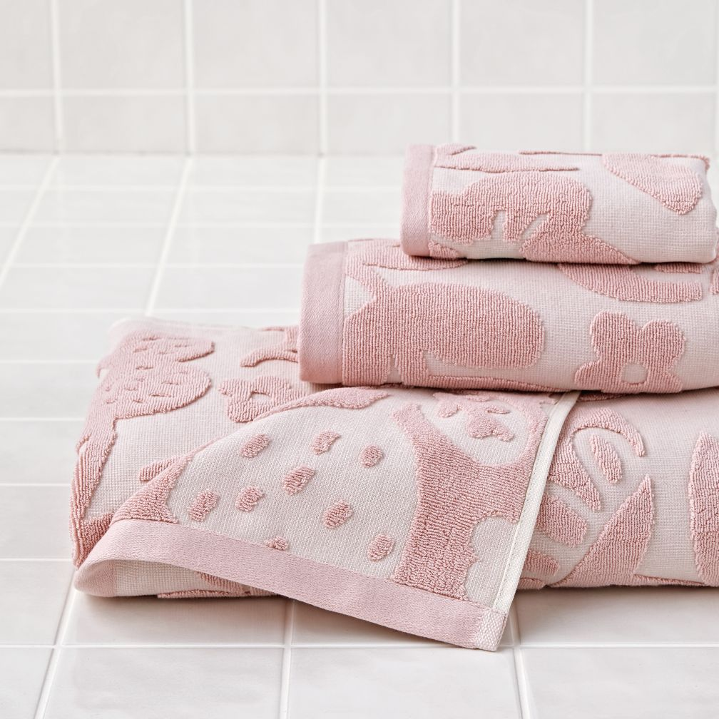 Blooming Jacquard Bath Towels