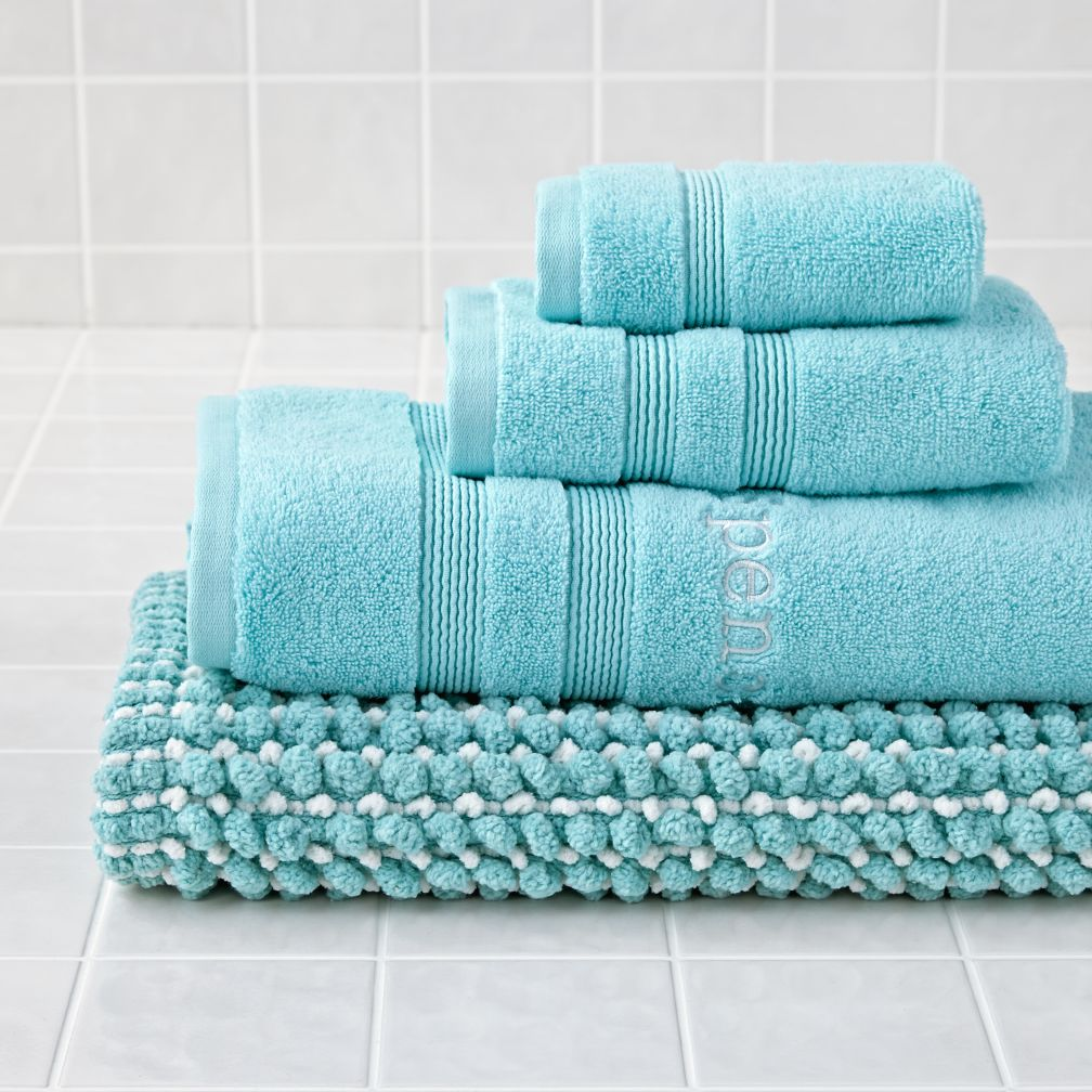 Fresh Start Bath Towels (Aqua)