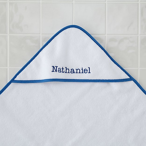 Personalized Fresh Start Hooded Towel (Blue)