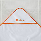 Orange Personalized Hooded Towel