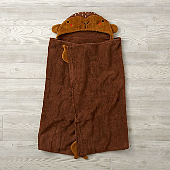 Petting Zoo Monkey Hooded Towel