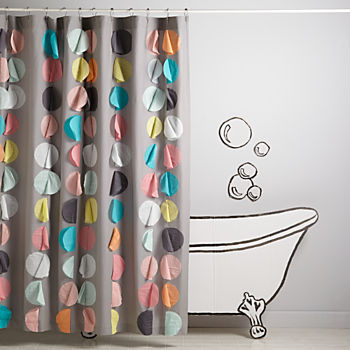 Confetti Party Shower Curtain  Kids Shower Curtain
