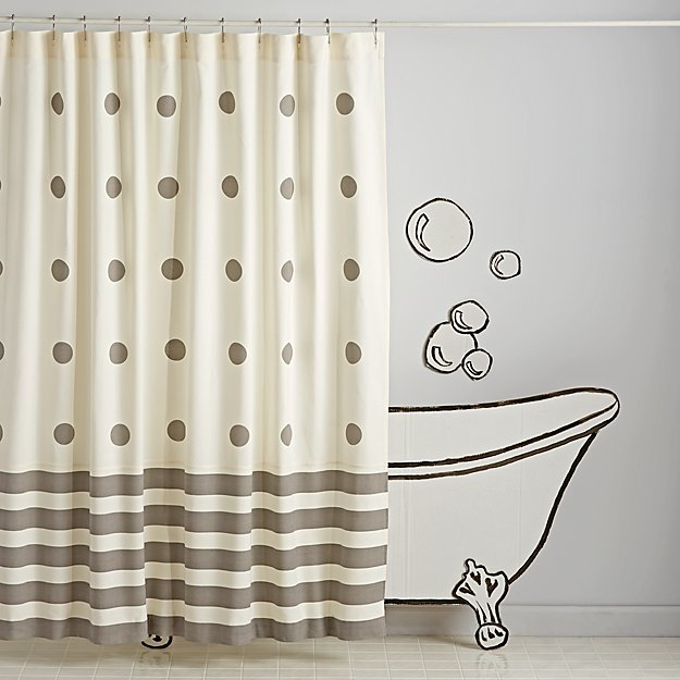 Stripe and Dot Shower Curtain