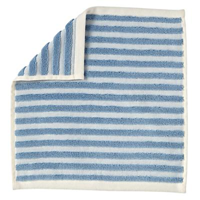 Organic Jacquard Washcloth (Blue Stripe)