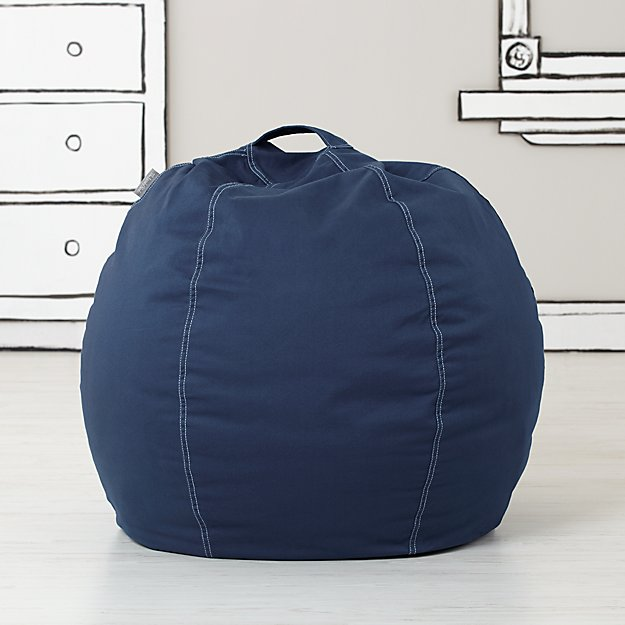Small Dark Blue Bean Bag Chair Cover