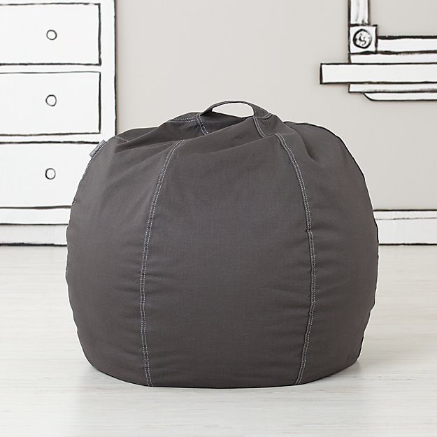Small Grey Bean Bag Chair