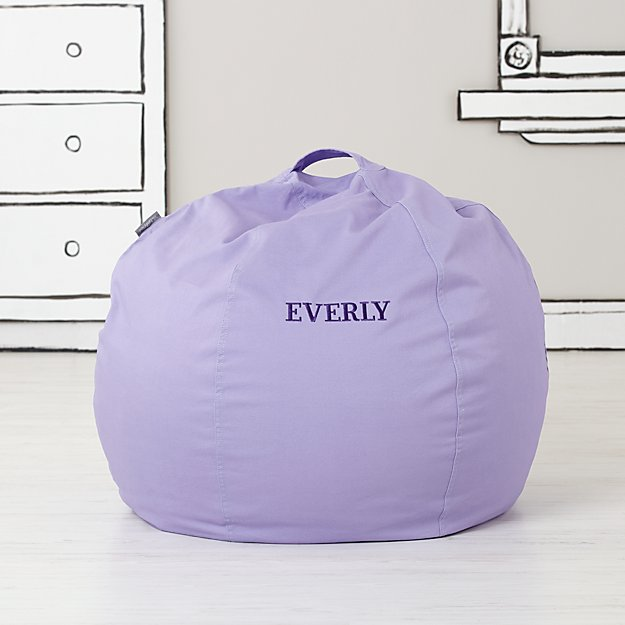 Small Personalized Lavender Bean Bag Chair Cover