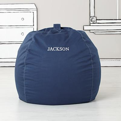 "40"" Ginormous Bean Bag Chair (Dk. Blue)"