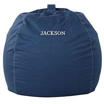 Large Personalized  Dark Blue Bean Bag Chair Cover