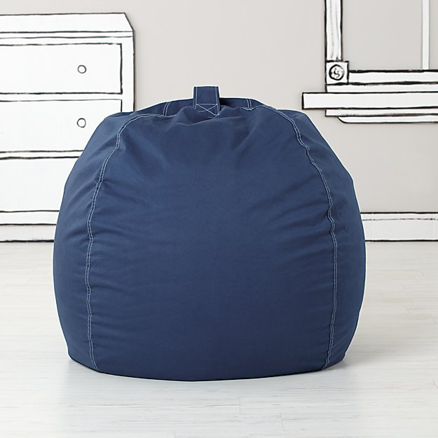 Large Dark Blue Bean Bag Chair