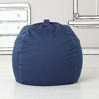 Large Dark Blue Bean Bag Chair Cover