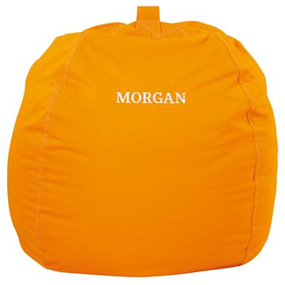 """40"""" Personalized Bean Bag Chair Cover (Orange)"""