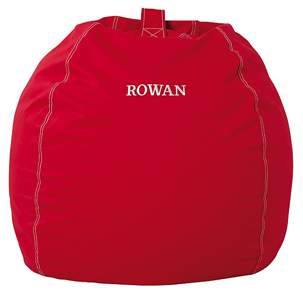 Large Personalized Red Bean Bag Chair