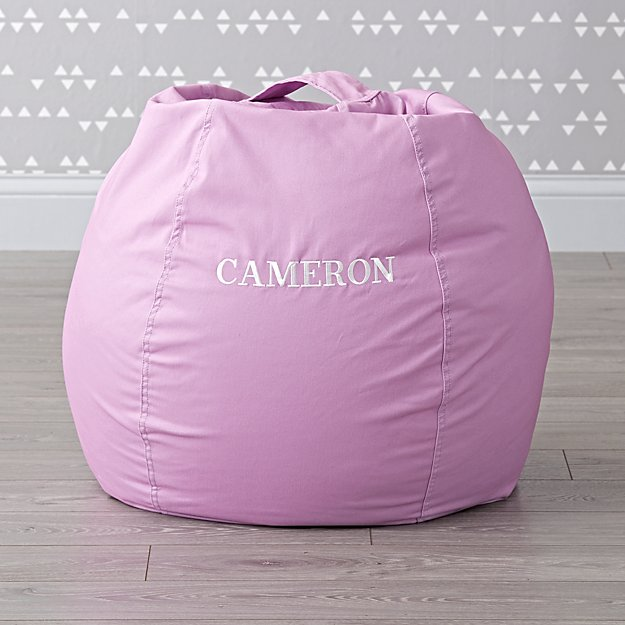 Small Personalized Light Purple Bean Bag Chair