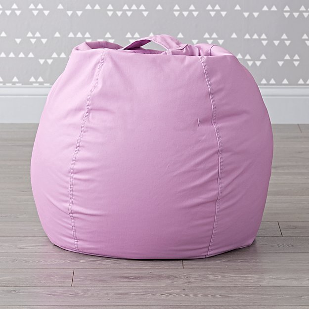 Small Light Purple Bean Bag Chair Cover