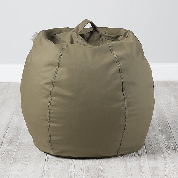 Small Dark Green Bean Bag Chair Cover