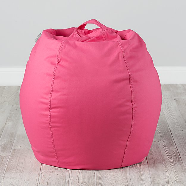 Small Dark Pink Bean Bag Chair Cover
