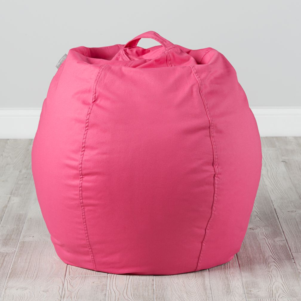 Small Dark Pink Bean Bag Chair
