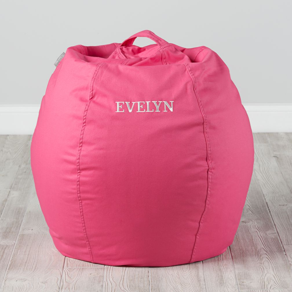 Small Personalized Dark Pink Bean Bag Chair