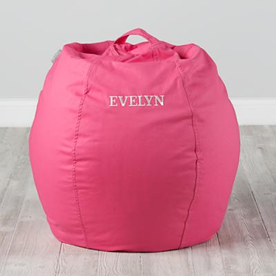 Small Personalized Dark Pink Bean Bag Chair Cover
