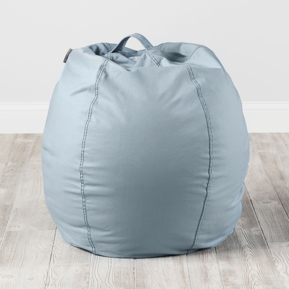 Small Light Blue Bean Bag Chair