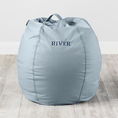 Small Personalized Light Blue Bean Bag Chair Cover