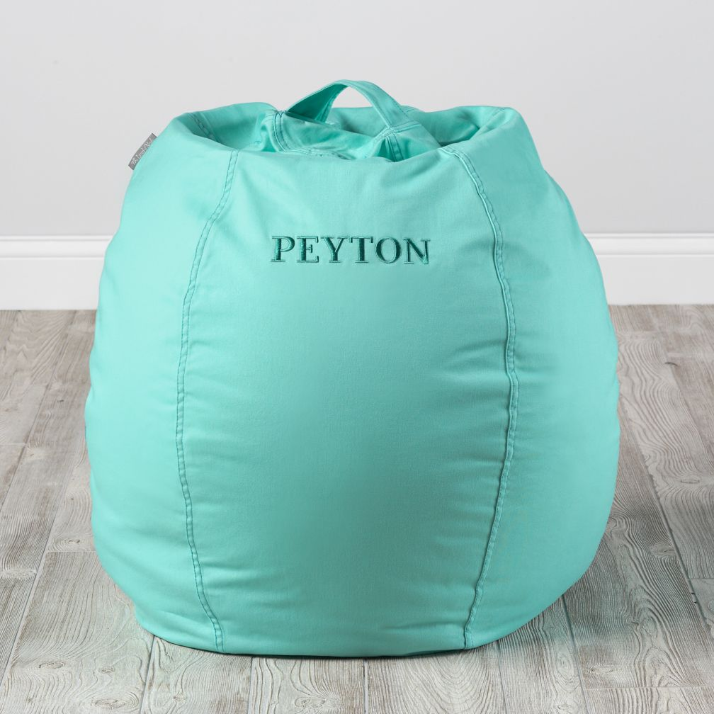 Small Personalized Dark Blue Bean Bag Chair – Personalized Bag Chairs