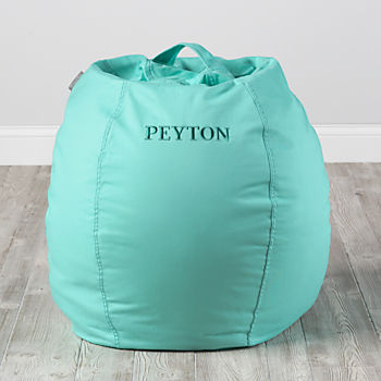 Small Personalized Mint Bean Bag Chair Cover