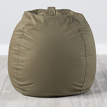 Large Dark Green Bean Bag Chair Cover