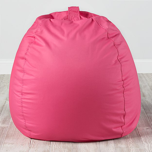Large Dark Pink Bean Bag Chair Cover