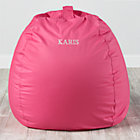 Large Personalized Dark Pink Bean Bag Chair
