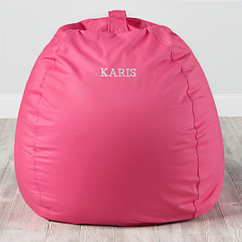 Large Personalized Dark Pink Bean Bag Chair Cover