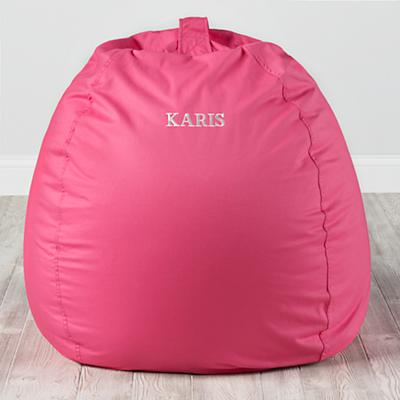 "Personalized 40"" Ginormous Bean Bag Cover (Dk. Pink)"