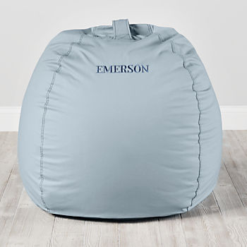 Large Personalized Light Blue Bean Bag Chair Cover