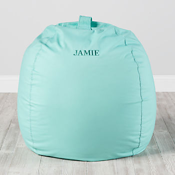 Large Personalized Mint Bean Bag Chair