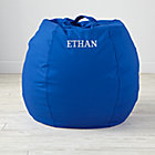Small Personalized Blue Bean Bag Chair