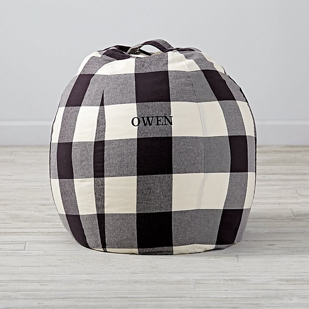 Small Personalized Buffalo Check Bean Bag Chair