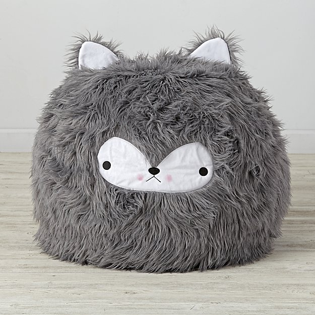 Small Wolf Bean Bag Chair Cover