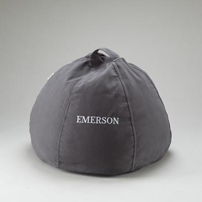 "30"" Grey Personalized Beanbag"