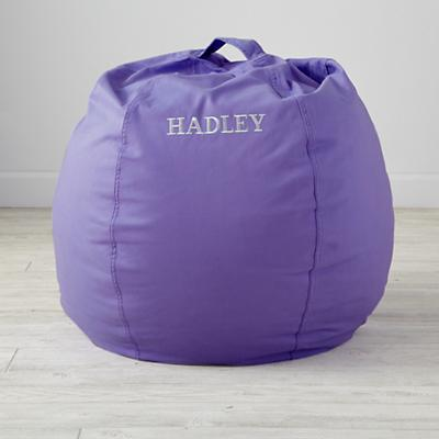 Small Personalized Purple Bean Bag Chair
