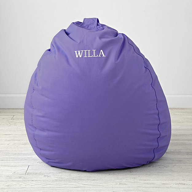 Large Personalized Purple Bean Bag Chair Cover